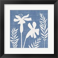 Framed Small Blue Linen II (P)