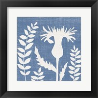 Framed Small Blue Linen III (P)