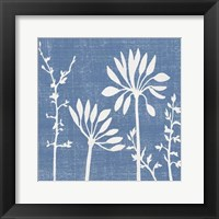Framed Small Blue Linen IV (P)
