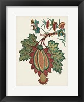 Framed Small Jacobean Floral II