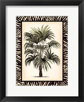 Framed Small Palm in Zebra Border I