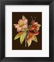 Framed Crimson Blooms I