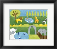 Storybook Zoo Framed Print