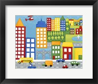 Storybook City Framed Print