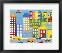 Storybook City Framed Print