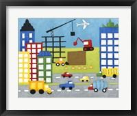 Framed Storybook Construction Site