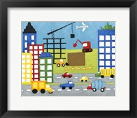 Storybook Construction Site Framed Print
