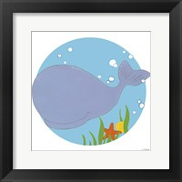 Wally the Whale Framed Print