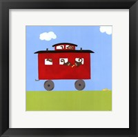 Framed Circus Train IV