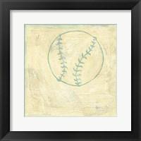 Baseball Rules Framed Print