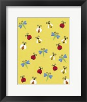 Framed Busy Bees