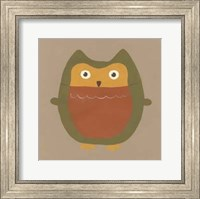 Framed Earth-Tone Owls II