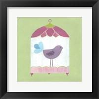 Framed Patchwork Birdcage I