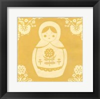 Framed Russian Doll in Yellow