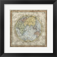 Framed Small Eastern Hemisphere