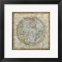 Framed Small Western Hemisphere
