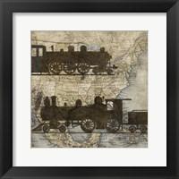 Framed Travel Silhouette I