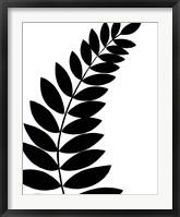 Framed Leaf Silhouette I