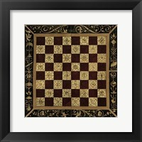 Framed Small Antique Gameboard I (P)