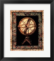 Framed Globe with Marble Border II