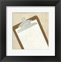 Classic Office IX Framed Print