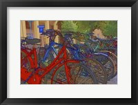 Framed Colorful Bicycles I