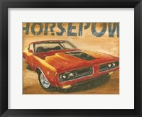 Framed Vintage Muscle I