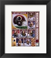 Framed 2010 Washington Redskins Composite