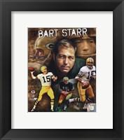 Framed Bart Starr 2010 Portrait Plus