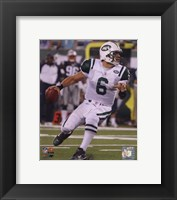 Framed Mark Sanchez 2010 with the ball