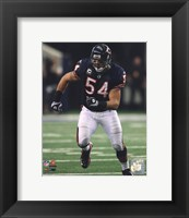 Framed Brian Urlacher 2010 Action