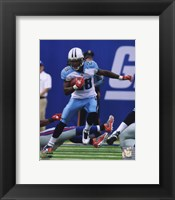 Framed Chris Johnson 2010 Action