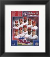 Framed Philadelphia Phillies 2010 NL East Division Champions Composite