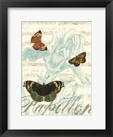 Papillon Melange III Framed Print