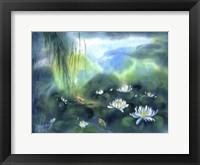 Framed Blue Lagoon II