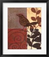 Framed Paisley Sparrow