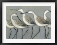 Framed Shore Birds I