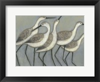 Framed Shore Birds II