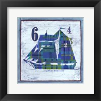 Framed Top Sail Schooner