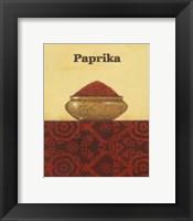 Exotic Spices - Paprika Framed Print