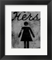 Framed Hers