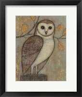Framed Ornate Owl I