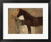 Framed Weathered Equine II