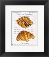 Framed Pain au Chocolat et Croissant