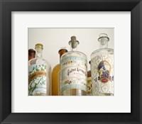 Framed French Perfume Bottles I