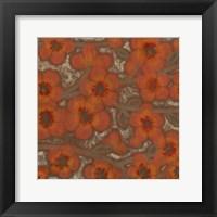 Framed Linen Blossoms I