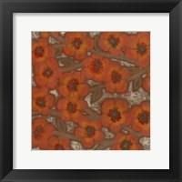 Framed Linen Blossoms II