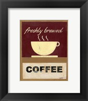 Framed Hot Coffee I