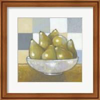 Framed Green Pears