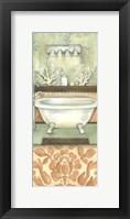 Framed Damask Bath I